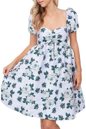 En Saison Women's Floral Jacquard Babydoll Dress