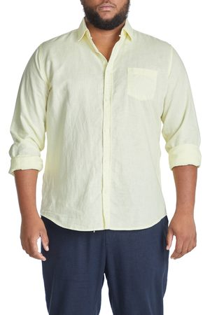 Johnny Bigg Men Shirts - Men's Big & Tall Relaxed Fit Linen Blend Button-Up Shirt