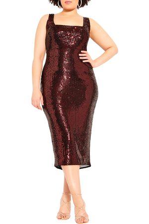 City Chic Plus Size Women's Sequin Sheath Dress