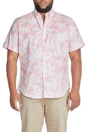 Johnny Bigg Men's Big & Tall Emi Floral Short Sleeve Linen Blend Button-Down Shirt