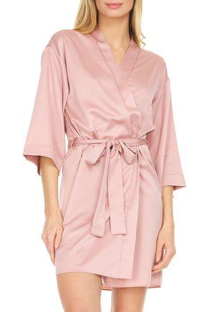 Flora Nikrooz Women Bathrobes - Women's Victoria Satin Short Robe
