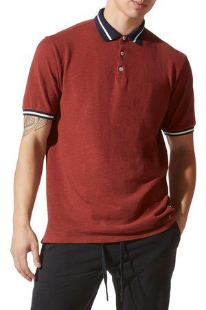 Good Man Brand Men's Match Point Tipped Slub Short Sleeve Polo