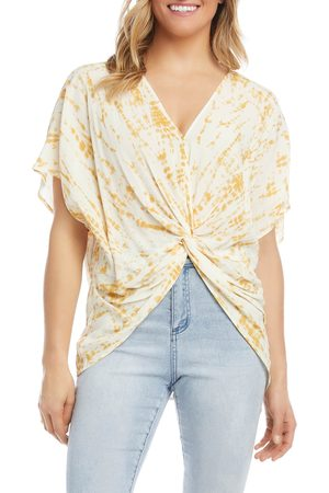 Karen Kane Women's Tie Dye Twist Tie T-Shirt