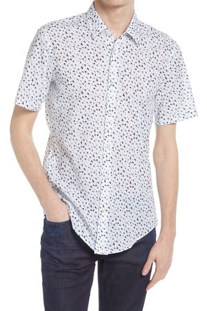 HUGO BOSS Men's Ronn Slim Fit Short Sleeve Button-Up Shirt