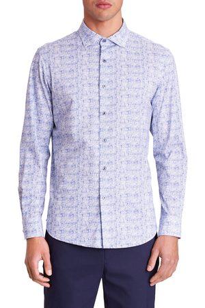 Bugatchi Men's Ooohcotton Tech Melange Knit Button-Up Shirt
