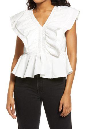 VERO MODA Women's Organic Cotton Ruffle Top