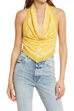 Free People Women's How's It Going Embroidered Halter Tank