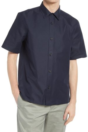 CLUB MONACO Men's Standard Short Sleeve Button-Up Shirt