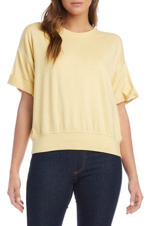 Karen Kane Women T-shirts - Women's Roll Sleeve French Terry T-Shirt