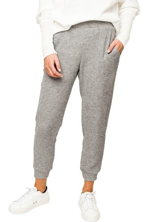 GIBSONLOOK Women's Thermal Knit Pocket Crop Joggers