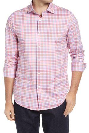 Bugatchi Men's Ooohcotton Tech Check Knit Button-Up Shirt