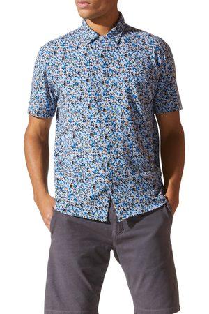 Good Man Brand Men's Knit Short Sleeve Button-Up Shirt