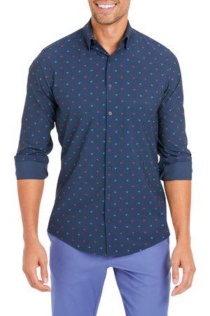 Mizzen+Main Men's Lightweight Leeward Stretch Print Button-Up Shirt