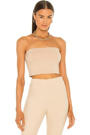 Susana Monaco Strapless Crop Top in Nude.