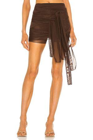 Kim Shui Mesh Tie Skirt in .