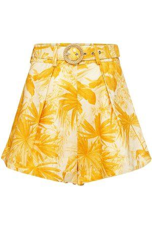 ZIMMERMANN Women Shorts - Mae Printed Linen Shorts