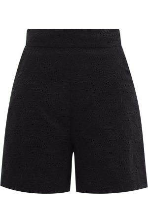 Three Graces London Women Shorts - Robin High-rise Broderie-anglaise Shorts - Womens