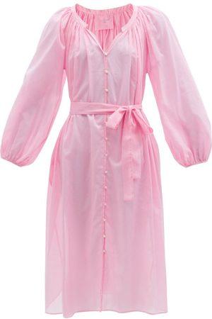Loup Charmant Women Midi Dresses - Maya Tie-waist Cotton Dress - Womens