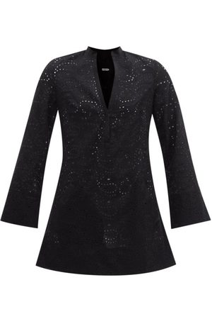 Three Graces London Verity Paisley Broderie-anglaise Poplin Mini Dress - Womens