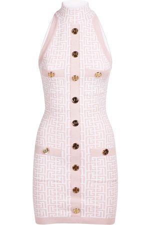 Balmain Women Dresses - Glitter Monogram Viscose Blend Dress