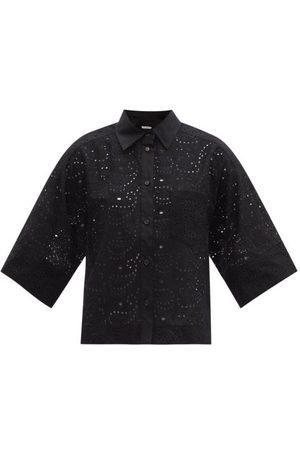 Women Shirts - Three Graces London - Nico Broderie-anglaise Shirt - Womens
