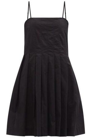 Three Graces London Darya Pleated Cotton Mini Dress - Womens
