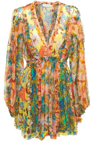 ZIMMERMANN Women Casual Dresses - Estelle Silk Chiffon Mini Dress