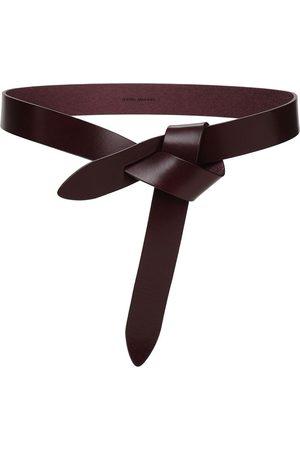 Isabel Marant Women Belts - 3cm Lecce Reversible Leather Belt