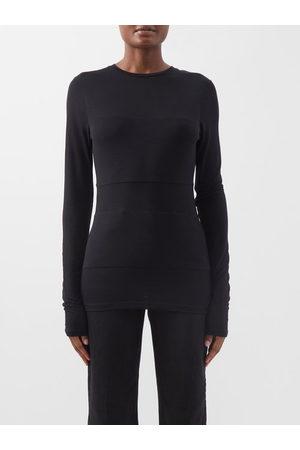 Raey Women Long Sleeve - Double-panel Long-sleeved Sheer T-shirt - Womens