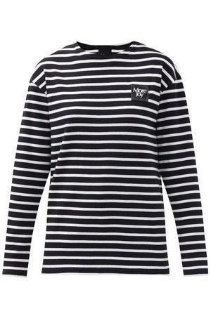 Christopher Kane Women Long Sleeve - Logo-patch Striped Cotton Long-sleeved T-shirt - Womens - Stripe
