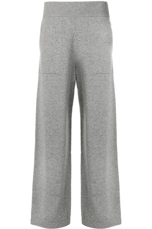 Barrie Flared knitted trousers - Grey