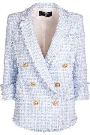 Balmain Cotton Blend Tweed Blazer
