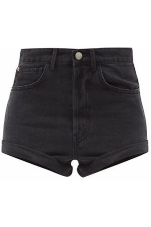 Raey Women Shorts - Rivet Cut-off Denim Shorts - Womens