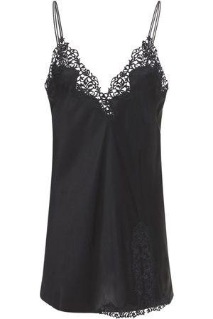 La Perla Petit Macramé Silk & Lace Slip Dress