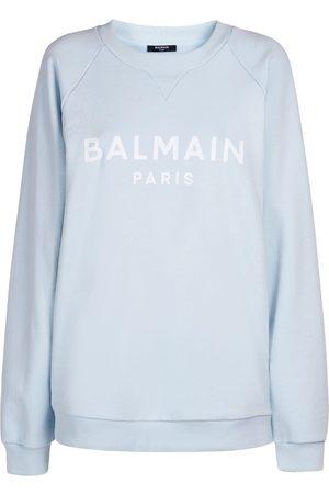 Balmain Logo Printed Cotton Sweatshirt