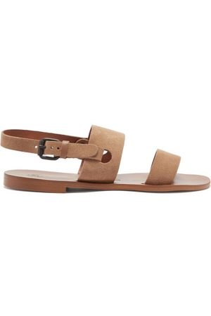 Álvaro Men Sandals - Alexander Suede And Leather Sandals - Mens