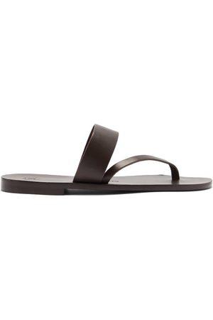 Álvaro Alberto Leather Sandals - Mens - Dark