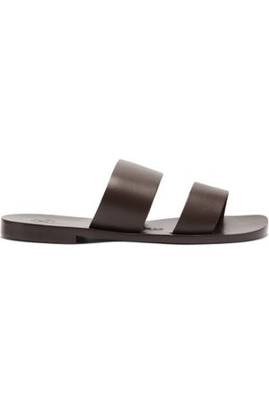 Álvaro Men Sandals - Alex Leather Sandals - Mens - Dark