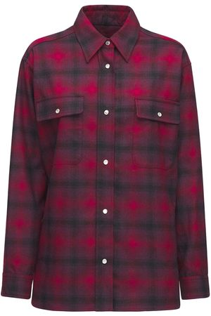 Isabel Marant Women Shirts - Marcelia Over Check Wool Blend Shirt