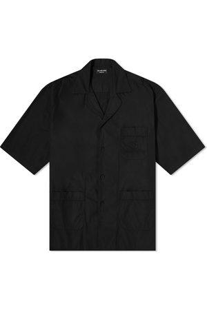 Balenciaga Short Sleeve Embroidered Pocket Logo Vacation Shirt