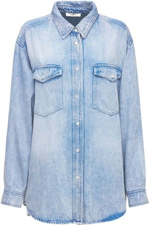 Isabel Marant Women Denim - Tania Oversized Lyocell Denim Shirt