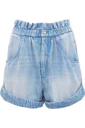 Isabel Marant Women Shorts - Itea Lyocell Denim Shorts