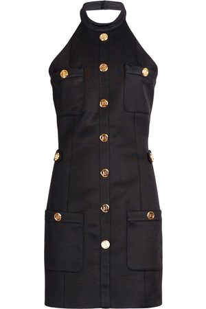 Balmain Women Halterneck Dresses - Halter Neck Viscose Blend Dress