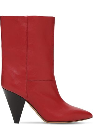 Isabel Marant Women Ankle Boots - 90mm Locky Leather Ankle Boots