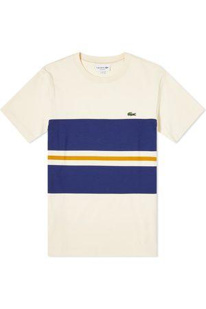 Lacoste Men Short Sleeve - Block Stripe Tee
