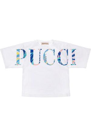 Emilio Pucci Girls T-shirts - Cotton Jersey T-shirt W/ Logo
