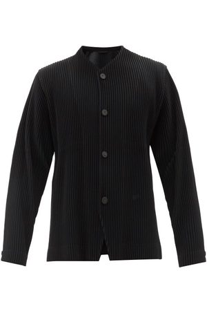 HOMME PLISSÉ ISSEY MIYAKE V-neck Technical-pleated Shirt - Mens