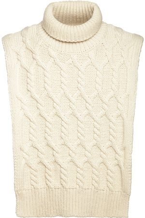 Jil Sander Wool Cable Turtleneck Collar