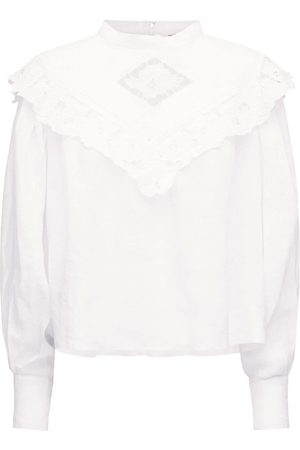 Isabel Marant Elija Ruffled Linen Top