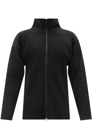 HOMME PLISSÉ ISSEY MIYAKE High-neck Technical-pleated Jersey Cardigan - Mens